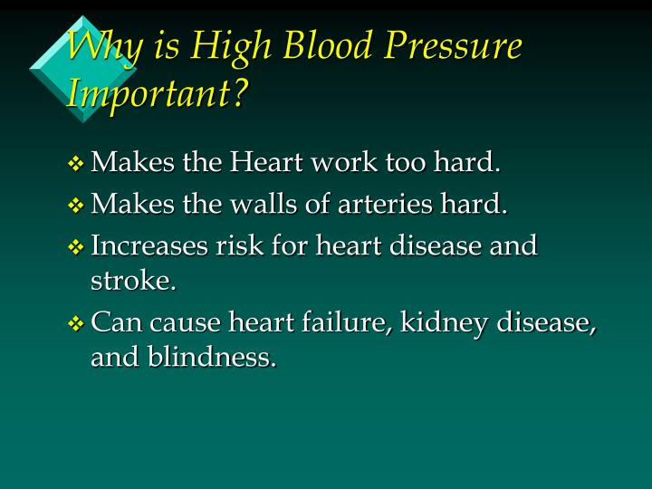 Why is High Blood Pressure Important?