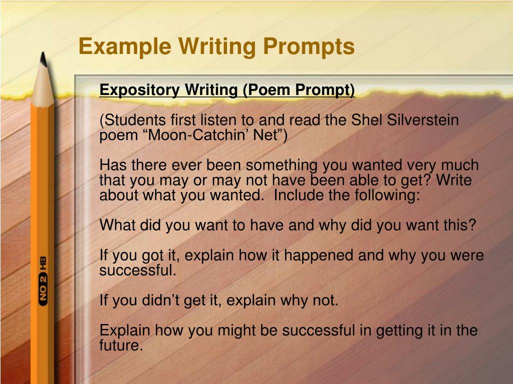 Example Writing Prompts