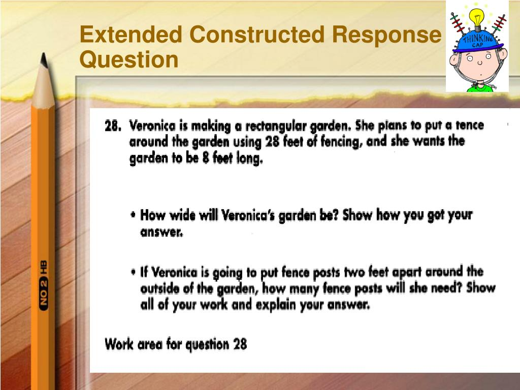 Extended Constructed Response Question