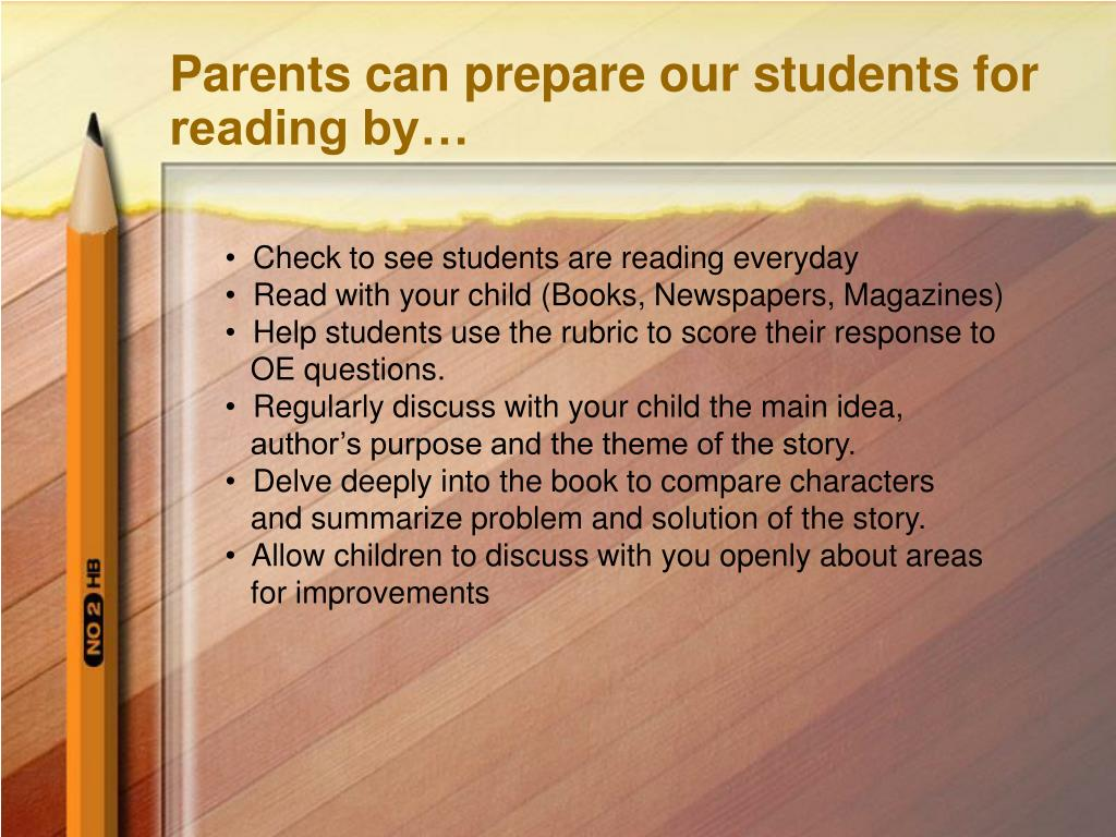 Parents can prepare our students for reading by…