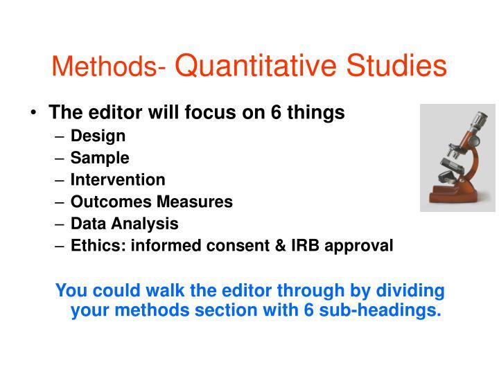 Methods-