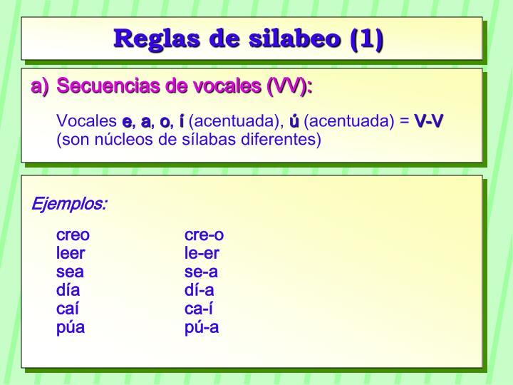 Reglas de silabeo (1)
