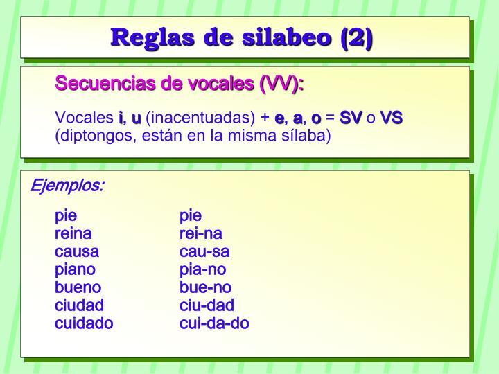 Reglas de silabeo (2)