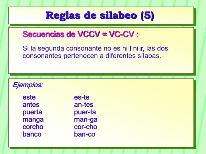 Reglas de silabeo (5)