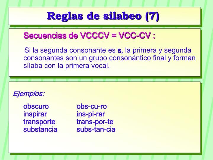 Reglas de silabeo (7)