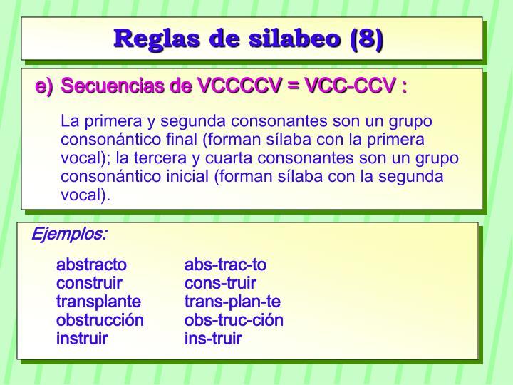 Reglas de silabeo (8)