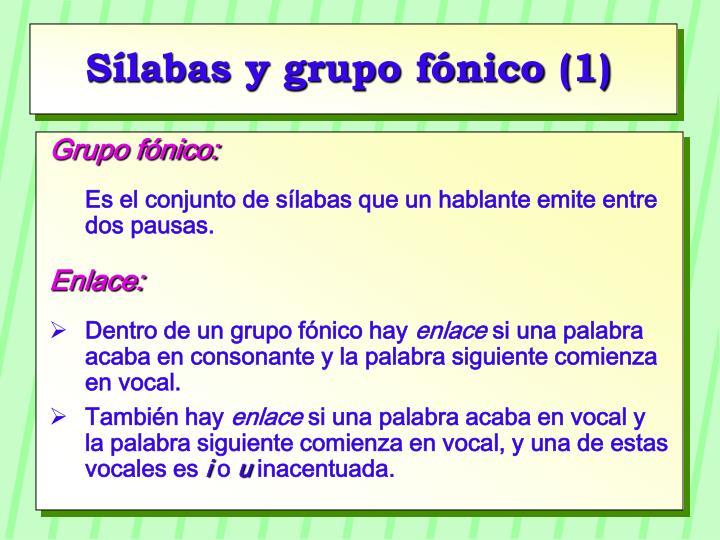 Sílabas y grupo fónico (1)