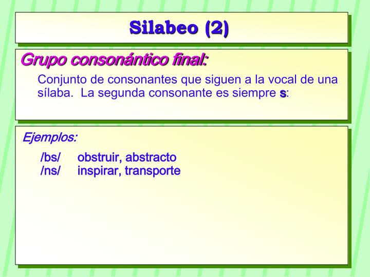 Silabeo (2)