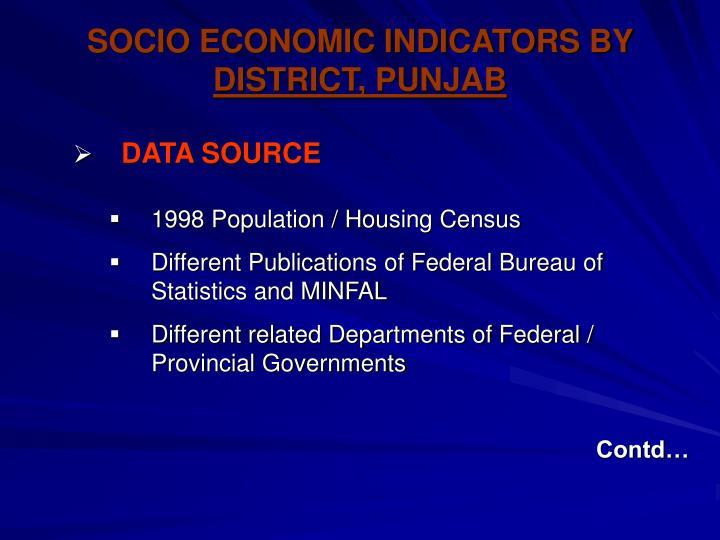SOCIO ECONOMIC INDICATORS BY