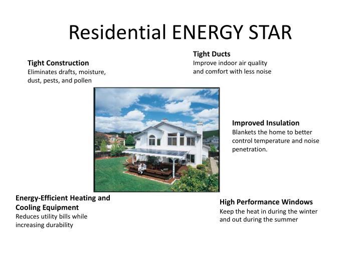 Residential ENERGY STAR