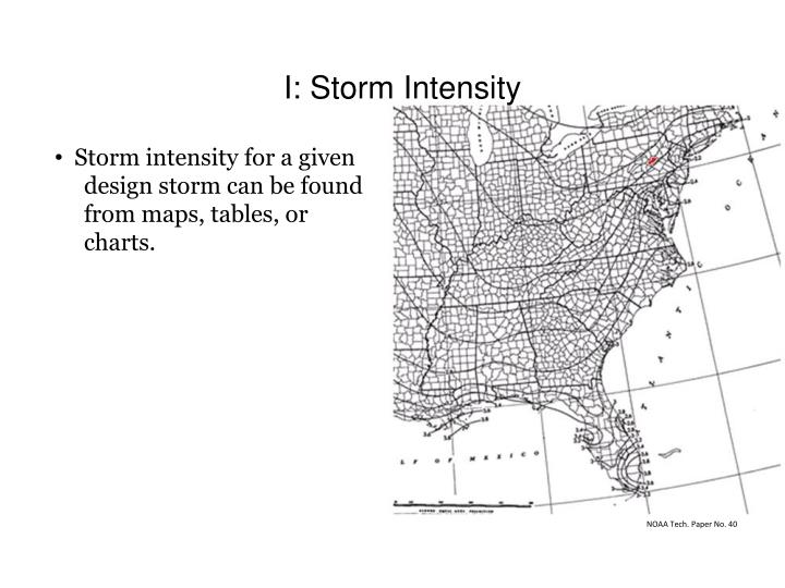 I: Storm Intensity