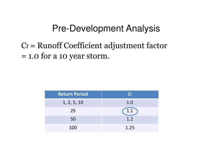 Pre-Development Analysis