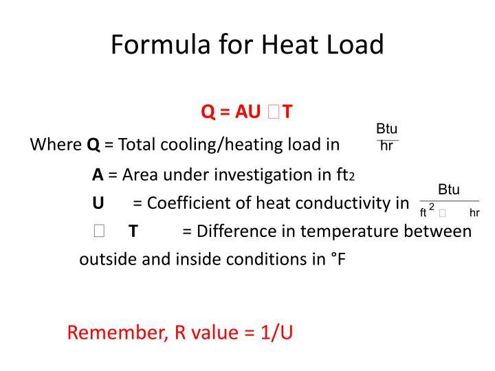 Formula for Heat Load
