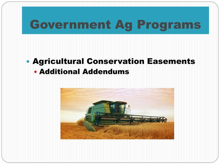 Government Ag Programs