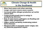 climate change health in the southwest