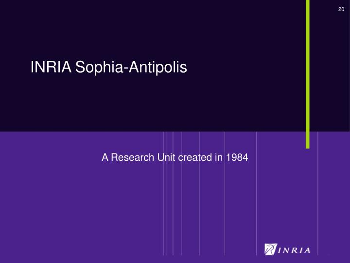A Research Unit created in 1984