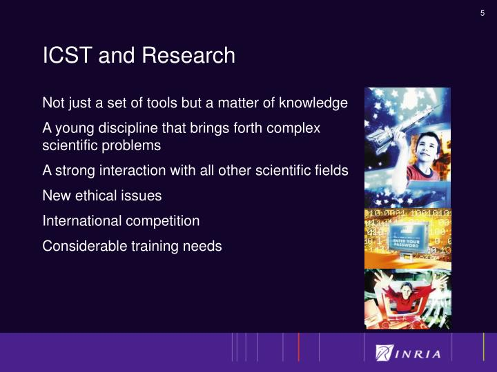ICST and Research