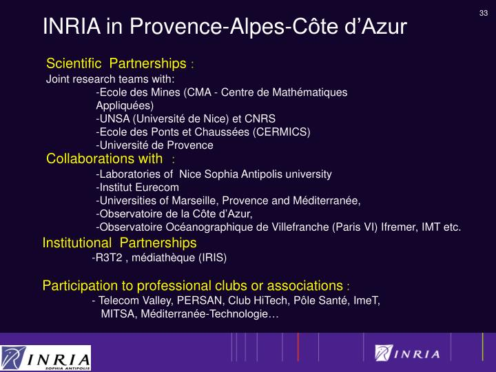 INRIA in Provence-Alpes-Côte d'Azur