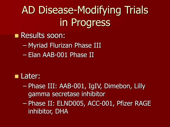 AD Disease-Modifying Trials