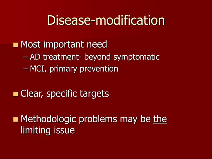 Disease-modification