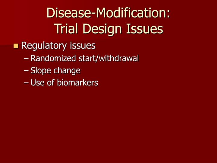 Disease-Modification: