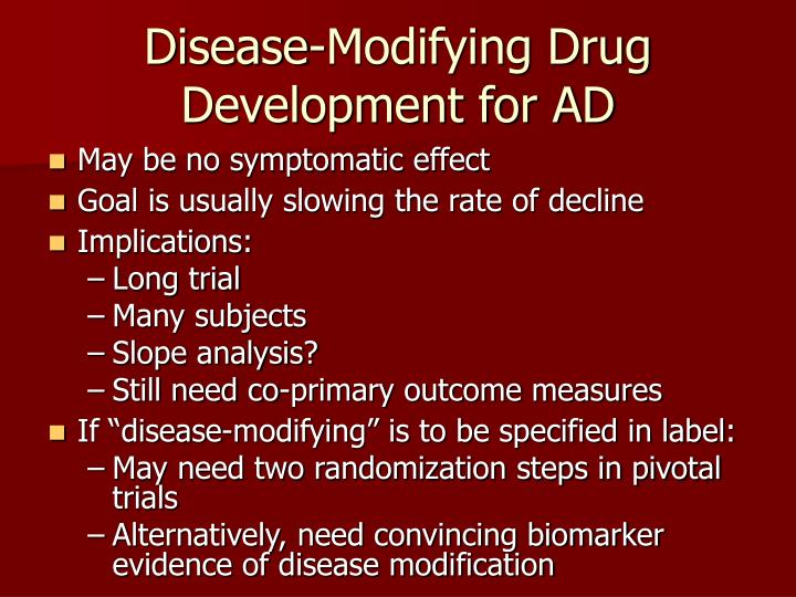Disease-Modifying Drug Development for AD