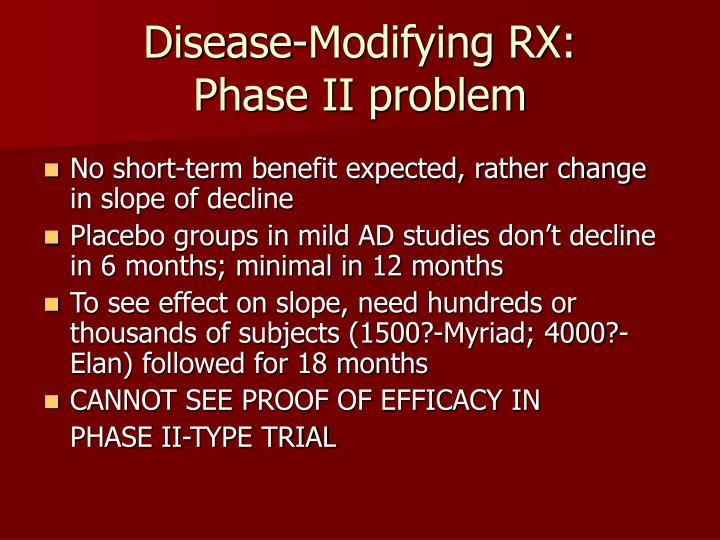 Disease-Modifying RX: