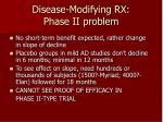 disease modifying rx phase ii problem