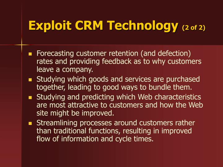 Exploit CRM Technology