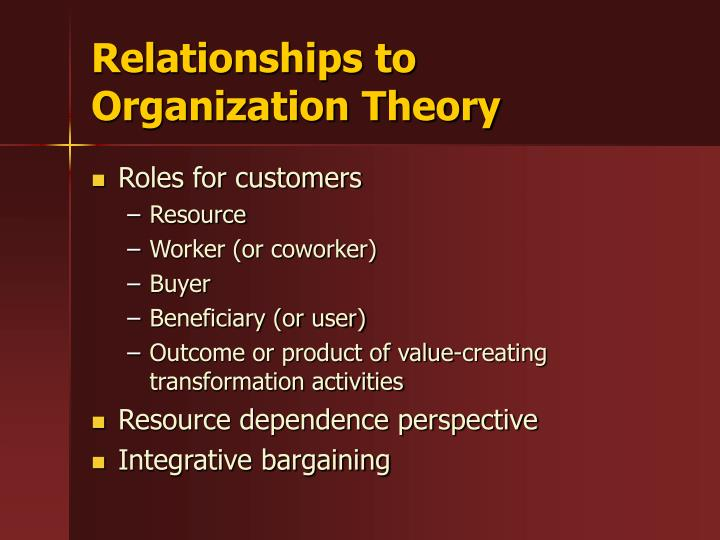 Relationships to Organization Theory
