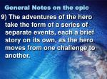 general notes on the epic2