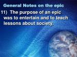 general notes on the epic4