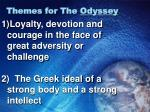 themes for the odyssey