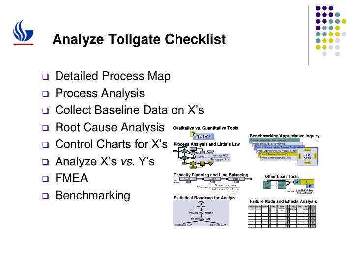 Analyze Tollgate Checklist