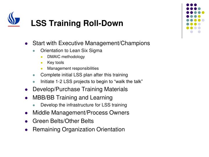 LSS Training Roll-Down