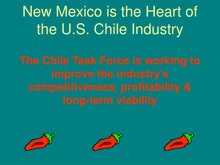 New Mexico is the Heart of the U.S. Chile Industry