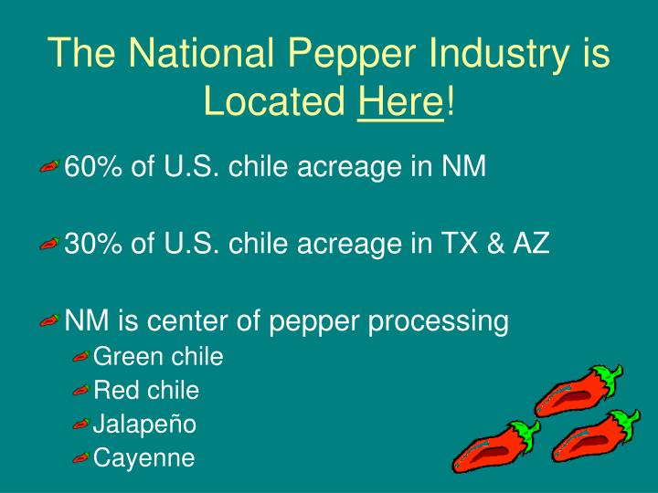 The National Pepper Industry is Located