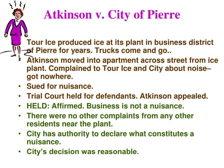 Atkinson v. City of Pierre