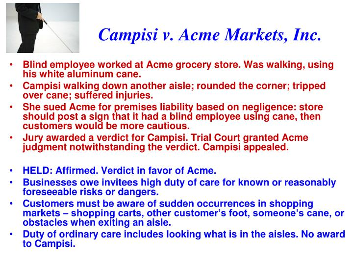 Campisi v. Acme Markets, Inc.