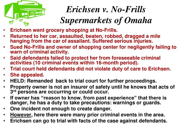 Erichsen v. No-Frills Supermarkets of Omaha