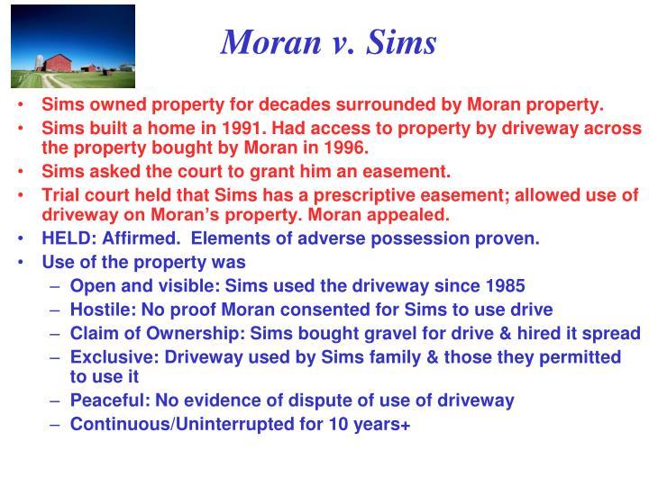 Moran v. Sims