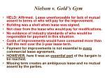nielson v gold s gym1