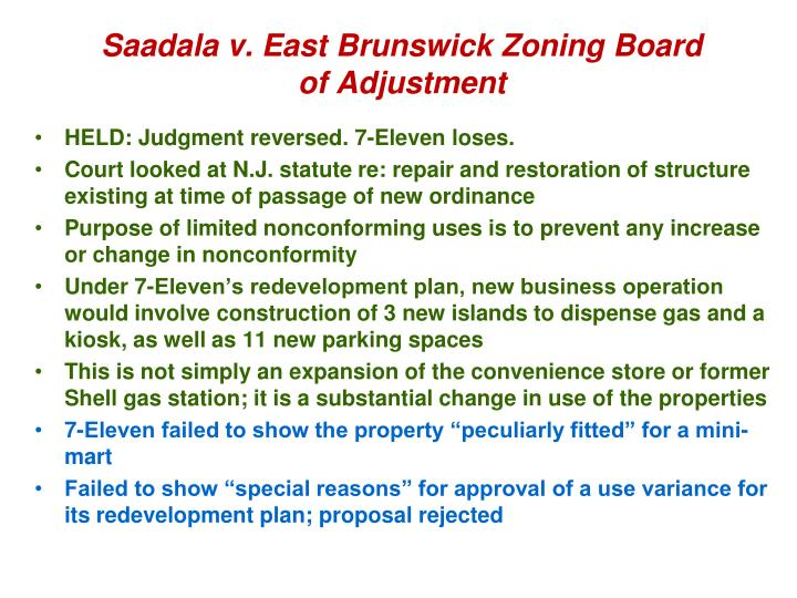 Saadala v. East Brunswick Zoning Board of Adjustment
