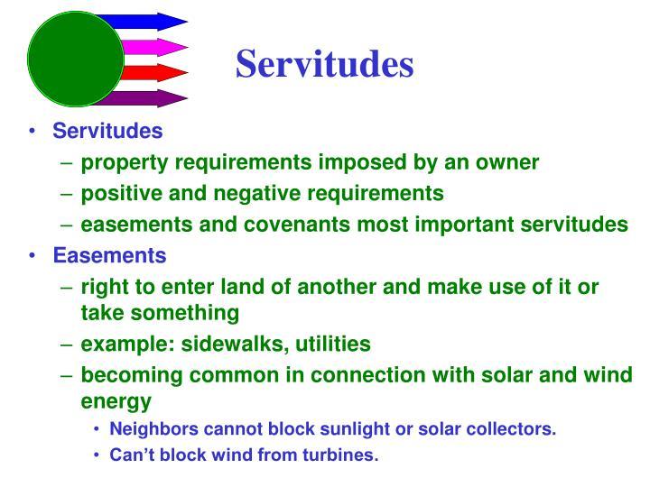 Servitudes