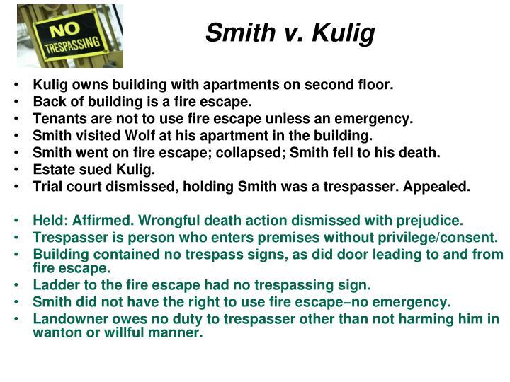 Smith v. Kulig