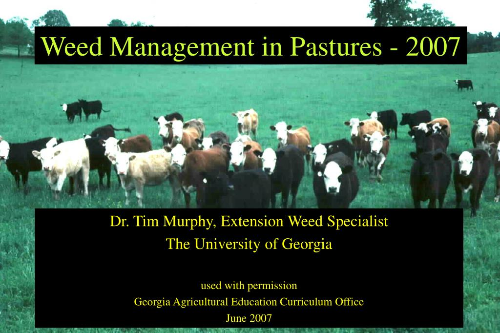 Weed Management in Pastures - 2007