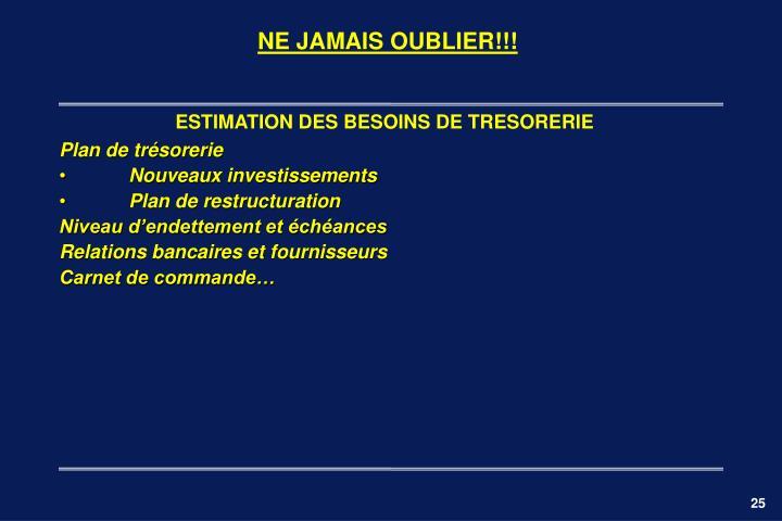 NE JAMAIS OUBLIER!!!