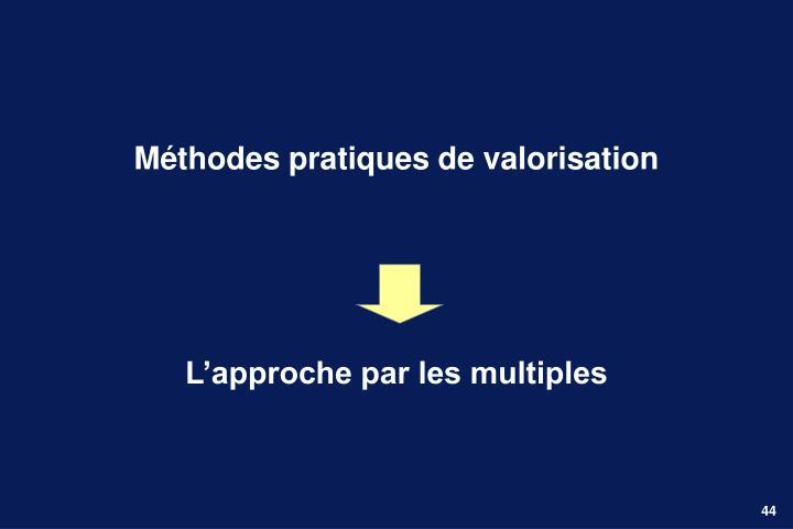Méthodes pratiques de valorisation