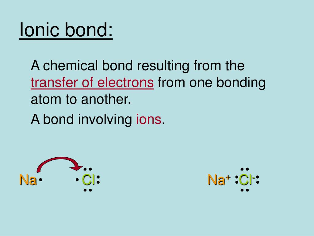 Ionic bond: