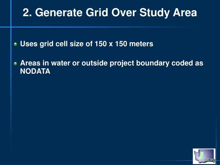 2. Generate Grid Over Study Area